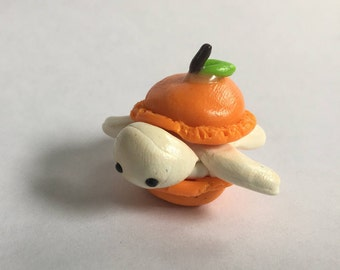 Orange Macaron Clay Turtle
