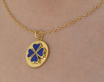 Lapis Necklace, Gold plated, Lapis Pendant, Lapis Necklace, Silver and Lapis Pendant Necklace, Gold Plated Necklace