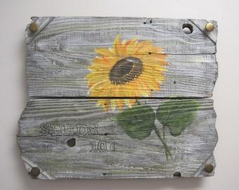 Vintage Sunflower Seeds Sign