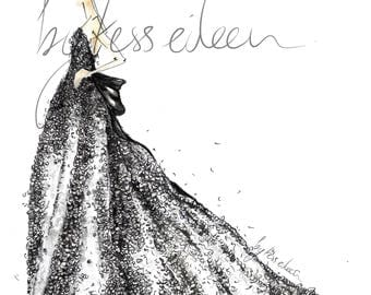 It's the Little Things - Black and White Fashion Illustration