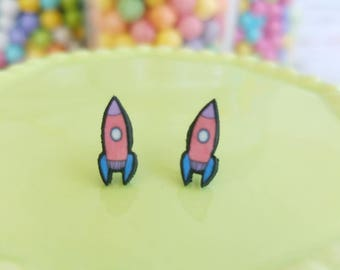 Handmade Rocket Earrings
