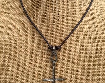 Pavé Diamond Cross Necklace