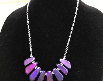 Bold Purple Statement Necklace