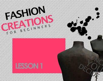 Fashion Design - How to draw a fashion figure (Intruduccion a la figura - 01)