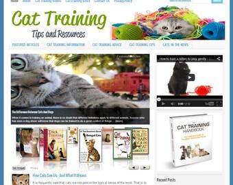Premade Website | Website Template | Turnkey Website | Blog Design | Website Design | Wordpress Website | Blog Theme | CAT TRAINING