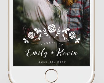 Custom Snapchat Geofilter   Wedding Snapchat Geofilter   White Floral    Snapchat Filter