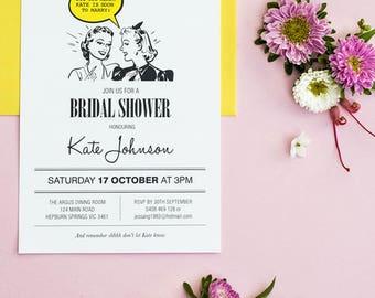 1950 Bridal Shower Invitation Printable Template