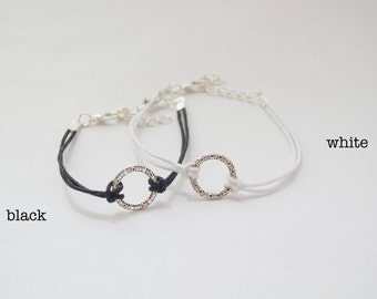 Silver Eternity Circle Bracelet