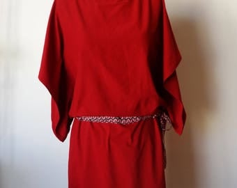 Dress sleeves kimono, red, size M/L