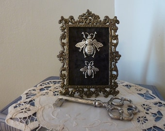 Vintage frame with Honey Bees