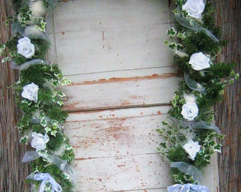 Garland wedding door wreath FIR Garland rose artificially