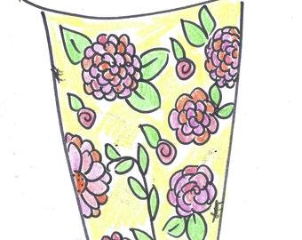 Original artwork - coffee cups to go