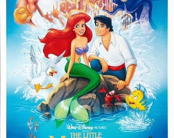 Original 1989 The Little Mermaid Theatrical One Sheet Movie Poster