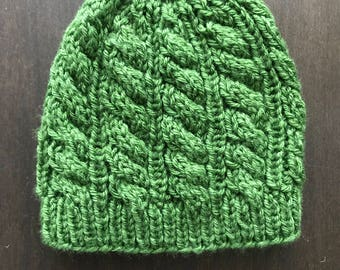 Emerald Green Knitted Stocking Cap