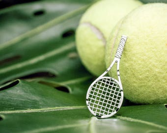 Tennis Racket Necklace Pendant