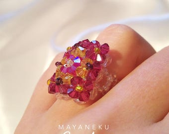 Empress in Crystal beads ring