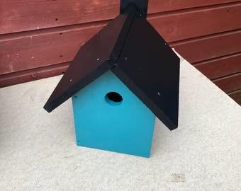 Handmade Bird House Painted