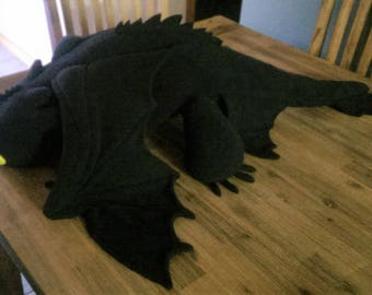 Giant Toothless Plush based on the HTTYD series