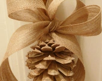 Bleached Pinecone ornament