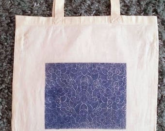 Cyanotype Tote Bag Cloud Design