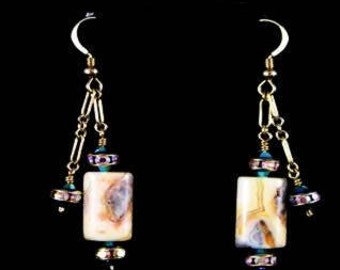 Crazy Lace Agate Earrings in a Notepad