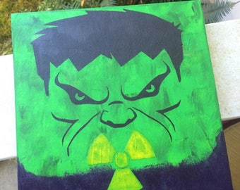 Hulk wood sign - hand painted