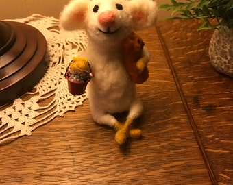 Happy Jack Needle Felted Figurine, Made to order