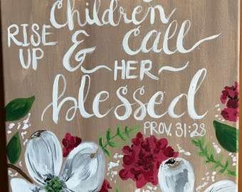 Custom Painted Bible Verses