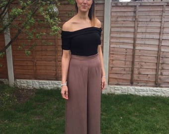 Wide leg swing trousers
