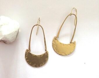 Hammered Moon Earrings