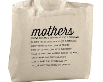 Tote Bag For Mom From Son Mothers Day Gift Mother Of The Groom Gift Mother Of The Bride Gift Mother in Law Gift Baby Shower Gift Canvas Tote