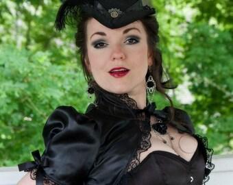 Vintage Diva Puffed Sleeve Bolero Shrug
