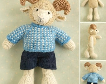 unique toy knitting patterns by Littlecottonrabbits on Etsy