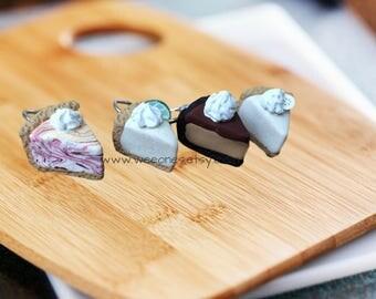 Polymer Clay Pie Stitch Markers (4 Slices)