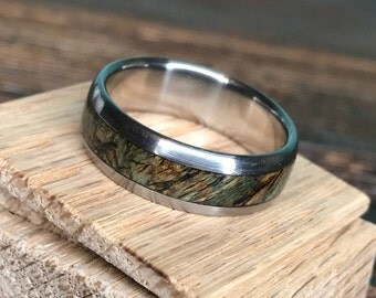 Titanium Ring, Wood Ring, Black Ash Burl Ring, Wedding Ring, Personalized Ring, Wood Inlay Ring, Mens Wedding Ring, Womens Ring, Engagement