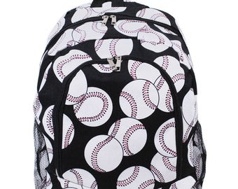 Baseball Backpack - Personalized Baseball Bag - Personalized Backpack - Monogram Backpack - Embroidered Backpack - Large Backpack Embroidery