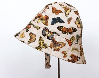 Bucket Sun Hat for Baby or Toddler with Butterflies