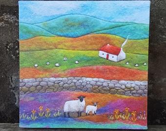 Lambing Time Box Canvas Print