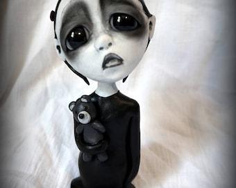 Loopy Gothic Art Doll Lowbrow Dark Goth Doll Georgia