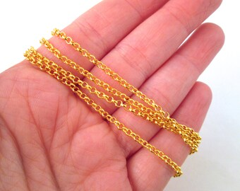 Gold Plated Rolo Chain, Pick your amount style, S067-01