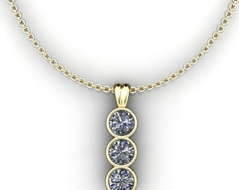 harlow pendant - 1.5 carat round brilliant NEO moissanite necklace