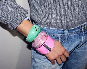novo_1, resin bangle, made in italy