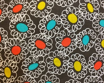 BTY fabric Mod abstract fabric Michael Miller novelty MCM print fabric Squiggle Bits