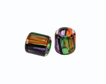 David Christensen Beads Chubs Rich Earth Tone Pair C155