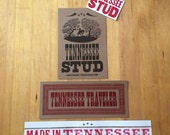 Tennessee ART Gift Pack of assorted Tennessee handmade letterpress signs and prints stud traveler made in tennessee
