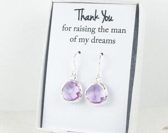 Lavender Silver Earrings, June Birthstone Earrings, Lavender Wedding Jewelry, Bridesmaid Earrings, Wedding Accessories, Bridal Earrings