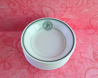 Six Bailey Walker Initialed Restaurant Ware Bowls - Vitrified China