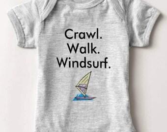 Windsurf Windsurfing Baby Bodysuit One Piece Newborn Infant Boy Shower Gift