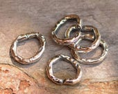 Five Rugged Open Jump Rings in Sterling Silver, JR-645