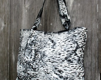 Birch Bark - Hand Painted Leather Bag by Stacy Leigh